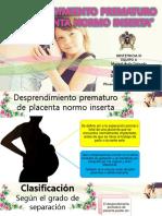 Desprendimiento Prematura de Placenta Normo Inserta