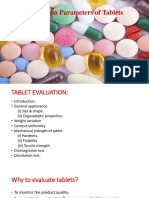 Evalutation Parameter of Tablets