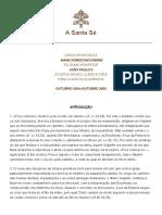 Carta Apostólica Mane Nobiscum Domine