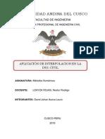 Aplicacion de La Interpolacion a La Ing Civil