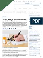 Eficacia de Ciertos Anticonvulsivos en La Depresión Bipolar Aguda