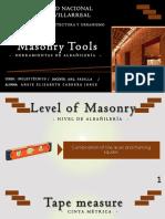 Masonry Tools - Cabrera Jorge Angie