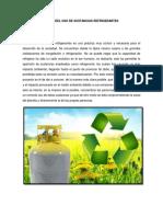 Impacto Ambiental Del Uso de Sustancias Refrigerantes