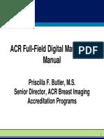 04 ACR Full Field Digital Mammo QA Manual