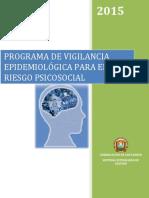 Programa de Vigilancia Epidemiológico Para La Prevención Del Riesgo Psicosocial