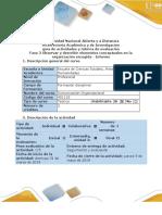 Guía de Actividades y Rúbrica de Evaluación - Fase 3 - Observar y Describir Elementos Conceptuales en La Organización Escogida - Informe