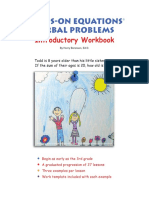 Hands on Equations Verbal problems Introductory Workbook Nov. 2018