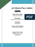 Universidad Abierta Para Adulto- Portafolio Del Aprendisaje