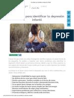 10 Señales Para Identificar La Depresión Infantil