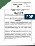 Decreto No. 753 de 2019