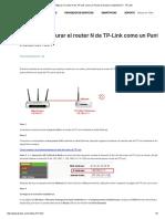 ¿Cómo Configurar El Router N de TP-Link Como Un Punto de Acceso Inalámbrico_ - TP-Link