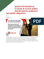 Nuevo propietario del inmueble no responde por deuda de servicio público de electricidad del anterior propietario.docx