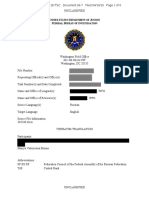 FBI documents six-pages said Mariia Maria Butina was agent of Russian Federation Council and Russian Central Bank