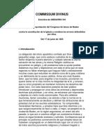 COMMISSUM DIVINUS - Gregorio XVI - Reprobación Del Congreso de Laicos