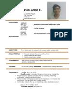 Arvin(Resume)