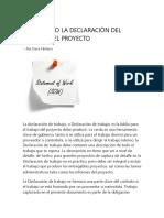 El SOW (Statement of Work)