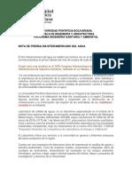 Nota Prensa Día Interamericano Del Agua
