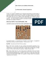 Novedades Teóricas en La Defensa Nimzoindia