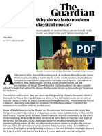 Why do we hate modern classical music?   Alex Ross   Music   The Guardian