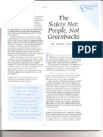 Safety Net Made of People, Not Greenbacks