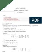 Inversas de Matrices