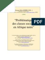Problematique Classes Afrique