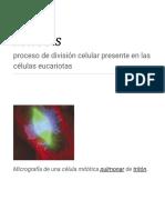 Mitosis - Wikipedia, la enciclopedia libre.pdf