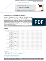 Infectious diseases of oral cavity