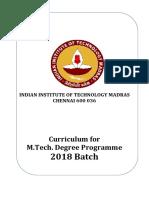 M.tech Curriculum 2018