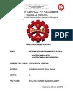 TRABAJO DE INVESTIGACIÓN  (SISTEMA DE POSICIONAMIENTO GLOBAL _ COORDENADAS UTM Y COORDENADAS GEOGRÁFICAS).docx