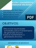 Identificación y Diagnóstico de Un Generador Síncrono