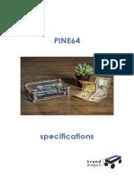 PINE 64 Especificaciones