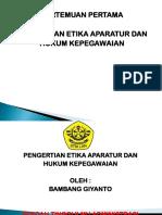Etika Dan Hukum Kepegawaian 1