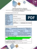Guía de actividades y rúbrica de evaluación - Fase 4 - Diseño de una herramienta Pedagógica.docx