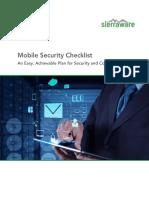 Mobile Security Checklist