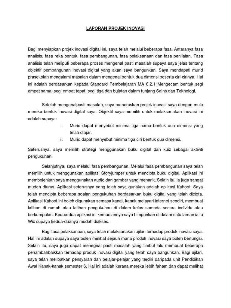 Laporan Inovasi Digital Docx