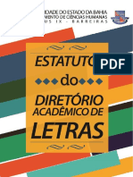 Estatuto Do Diretório Acadêmico Do Curso de Letras UNEB Campus IX Barreiras