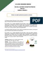 Estructura de La Materia - Quimica 6 a 9 - 2019