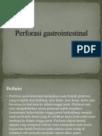 Perforasi Gastrointestinal 1111
