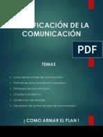 planificación de la comunicacios