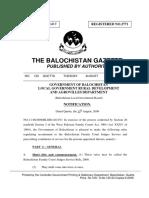 Balochistan Family Court Judges Service Rules 2009