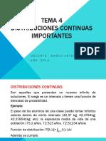 TEMA 4 Distribuciones Continuas Importantes