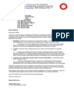 Sample Letter of Thesis