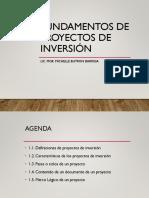 1. Fundamentos de Proyectos de Inversión