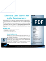 Effective User Stories for Agile Requirements