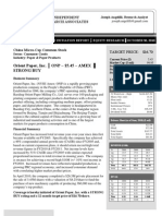 Orient Paper, Inc. Coverage Initiation Report (AMEX