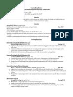 athletic admin resume