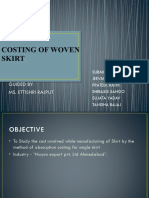 Costing of Woven Skirt