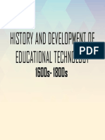 History and Development of Educational Technology