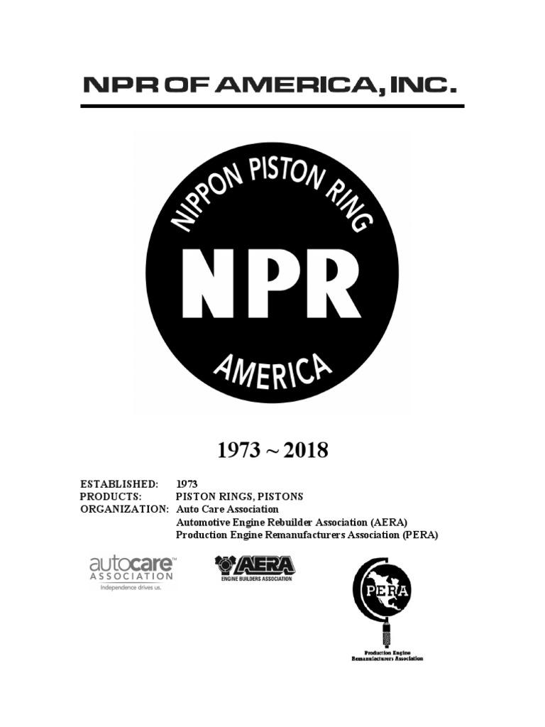 RINGS SET NPR BRAND 01-06 TOYOTA CAMRY SOLARA 2AZFE 2.4L COMPLETE PISTONS